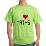 I love maths Green T-Shirt