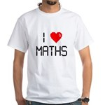 I love maths White T-Shirt