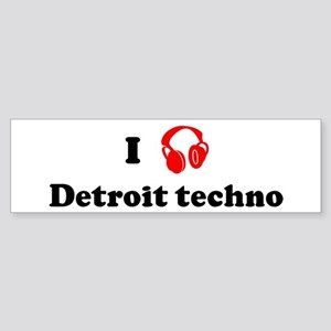 Detroit techno music Bumper Sticker