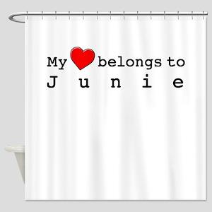 My Heart Belongs To Junie Shower Curtain