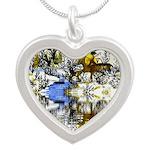 Native American Warrior Silver Heart Necklace