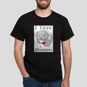 I Love Manatees Dark T-Shirt