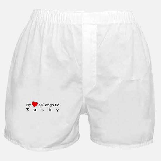 My Heart Belongs To Kathy Boxer Shorts