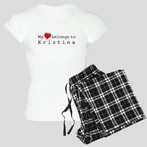 My Heart Belongs To Kristina Women's Light Pajamas