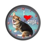 I Love Corgis Wall Clock
