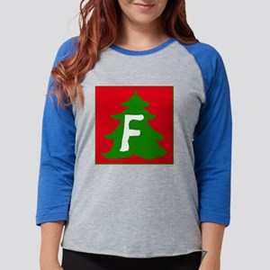 Christmas Tree F Womens Baseball Tee