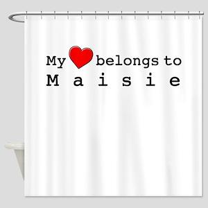 My Heart Belongs To Maisie Shower Curtain