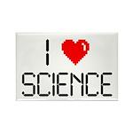 I love science Rectangle Magnet (10 pack)