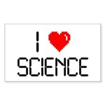 I love science Sticker (Rectangle)