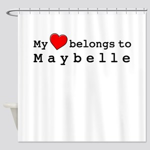 My Heart Belongs To Maybelle Shower Curtain