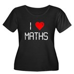 I love maths Women's Plus Size Scoop Neck Dark T-S