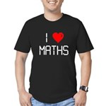 I love maths Men's Fitted T-Shirt (dark)