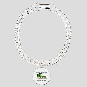 Graduate 2017 Green Gold Charm Bracelet, One Charm