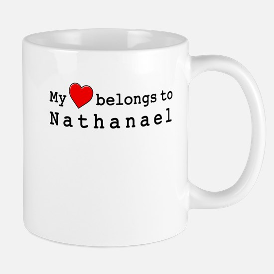 My Heart Belongs To Nathanael Mug