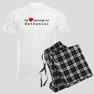 My Heart Belongs To Nathanial Men's Light Pajamas