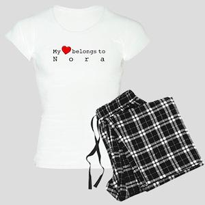 My Heart Belongs To Nora Women's Light Pajamas