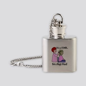 Its a comb not a wand! Flask Necklace