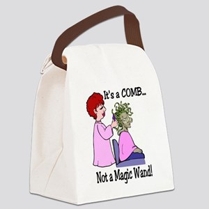 Its a comb not a wand! Canvas Lunch Bag