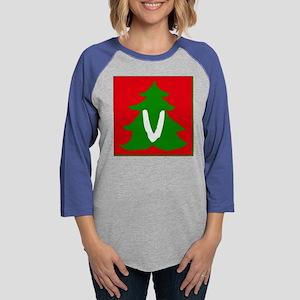 Christmas Tree V Womens Baseball Tee