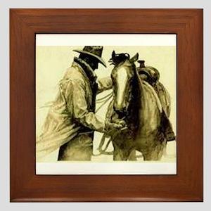 Saddle Up Framed Tile