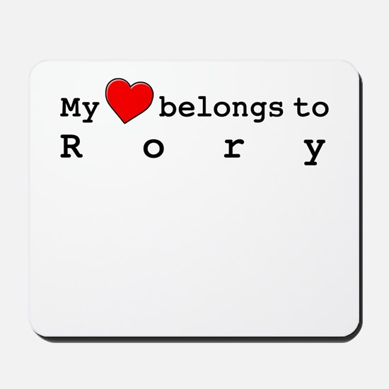 My Heart Belongs To Rory Mousepad