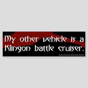 Klingon Battle Cruiser (3) Bumper Sticker