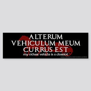 'My Other Vehicle is a Chariot' Bumper Sticker
