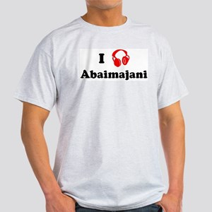 Abaimajani music Ash Grey T-Shirt
