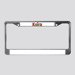 Keira Christmas License Plate Frame