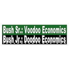Doodoo Economics Bumper Bumper Sticker