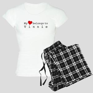 My Heart Belongs To Vinnie Women's Light Pajamas