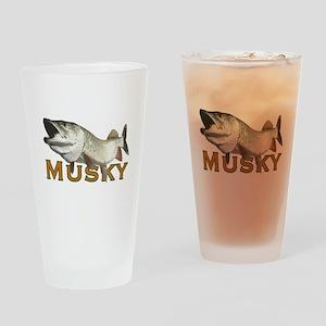 Monster Musky Drinking Glass