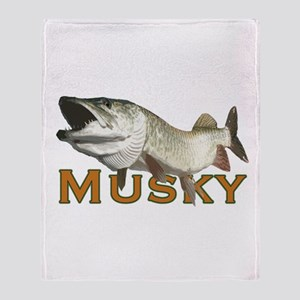 Monster Musky Throw Blanket