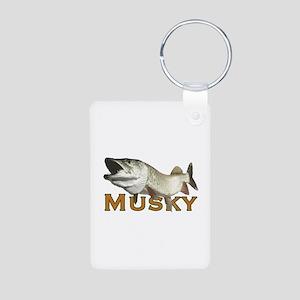 Monster Musky Aluminum Photo Keychain