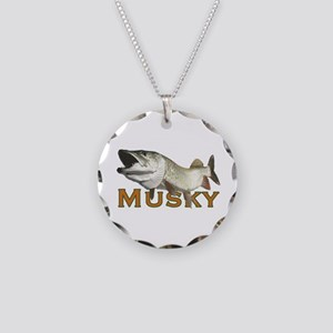 Monster Musky Necklace Circle Charm