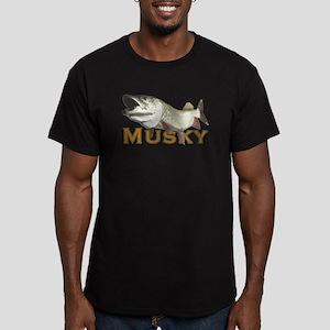 Monster Musky Men's Fitted T-Shirt (dark)