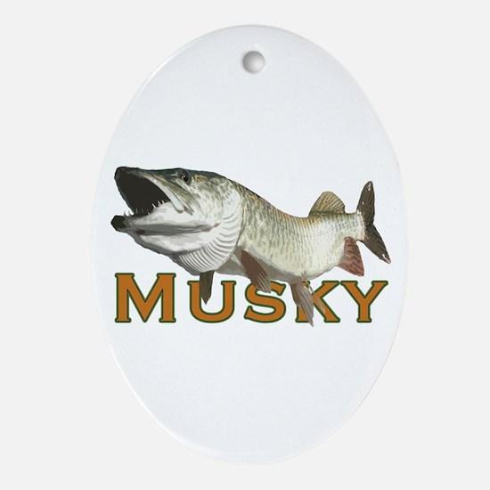 Monster Musky Ornament (Oval)