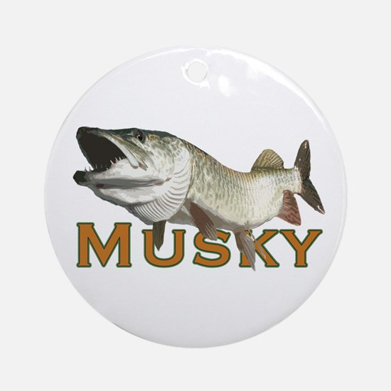 Monster Musky Ornament (Round)