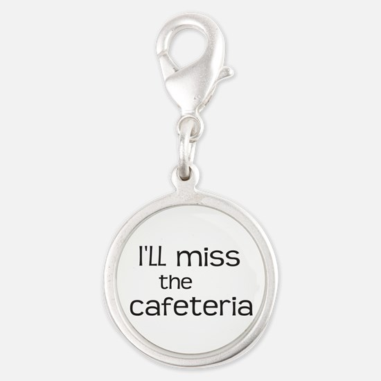 I'll miss the Cafeteria Silver Round Charm