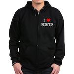 I love science Zip Hoodie (dark)