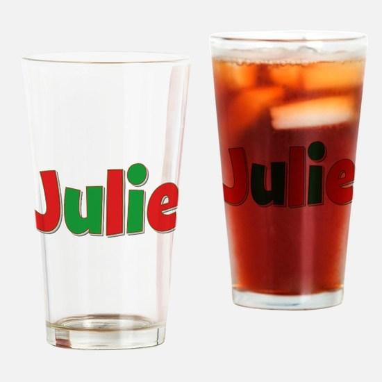 Julie Christmas Drinking Glass