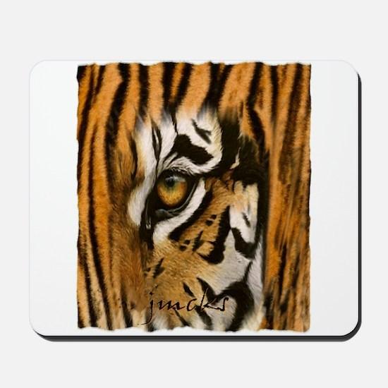 tiger eye art illustration Mousepad