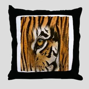 tiger eye art illustration Throw Pillow