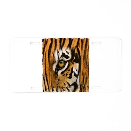 tiger eye art illustration Aluminum License Plate