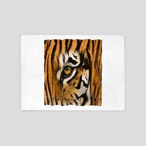 tiger eye art illustration 5'x7'Area Rug