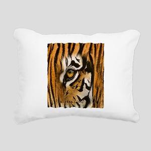 tiger eye art illustration Rectangular Canvas Pill