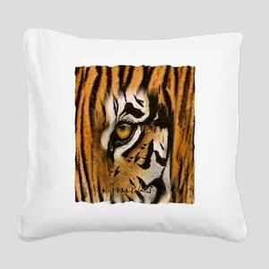 tiger eye art illustration Square Canvas Pillow