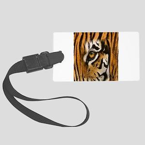 tiger eye art illustration Large Luggage Tag