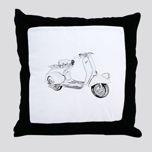 1949 Piaggio Vespa scooter Throw Pillow