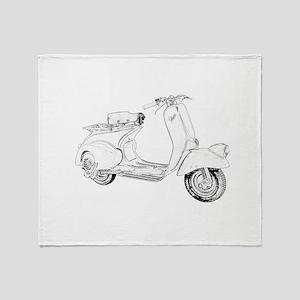1949 Piaggio Vespa scooter Throw Blanket